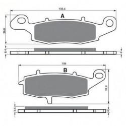 Paires de Machoire de frein Arrière Pour Keeway Focus 50 de 2007 à 2012
