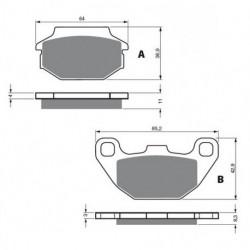 Jeu de balais de charbon démarreur pour Quads Kawasaki KVF 300 Prairie de 1999 à 2002