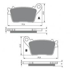 kit réparation démarreur balais pour Motos Kawasaki KLR 650 E de 2008 à 2009