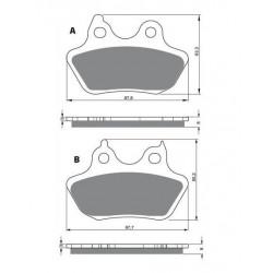kit réparation démarreur balais pour Motos Kawasaki KZ 750 de 1981 à 1984