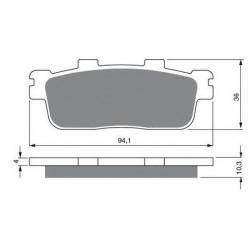 Bouchon de jante avant pour Quads Yamaha Kodiak 450 YFM de 2003 à 2006