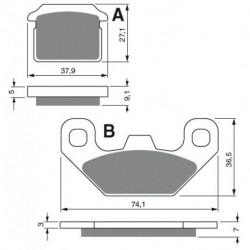 2 Ampoules phare pour Quads Yamaha Grizzly 125 YFM de 2004 à 2012