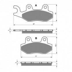 Paires de Plaquettes de frein Avant Pour Kreidler Enduro 125 DD de 2008 à 2011