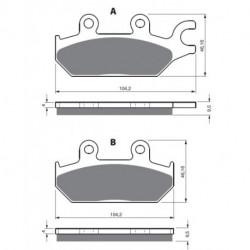 Paires de Plaquettes de frein Avant Droit Pour Cf moto Rancher 500  de 2010 à 2012