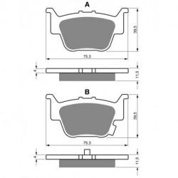 Paire de Plaquettes de frein Arrière Pour Husqvarna TE 350  de 1992 à 1994
