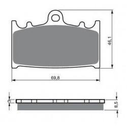 Paire de Plaquettes de frein Arrière Pour Kawasaki ZZR 1200  de 2002 à 2004