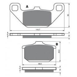 Paire de Levier pour Motos Yamaha PW 50