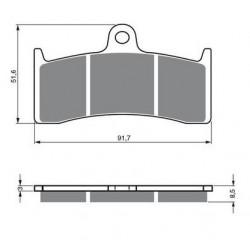 Paires de Plaquettes de frein Avant Pour Ktm XC 250 USD de 2011 à Nc