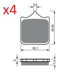 Paires de Plaquettes de frein Avant Pour Ktm EXC 125 M/O de 1996 à 1997