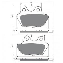 Paires de Plaquettes de frein Arrière Pour Mz Skorpion 660 MUZ de 1995 à 2002