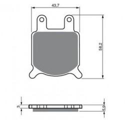 Paires de Plaquettes de frein Avant Pour Ktm EGS 125  de 1996 à 1999