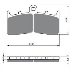 Paires de Plaquettes de frein Avant Pour Atk MX 560  de 1984 à 1988