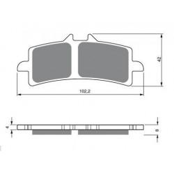 Paires de Plaquettes de frein Arrière Pour Ktm XC-W 450 Six Days de 2010 à 2011
