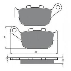 Paires de Plaquettes de frein Avant Pour Kawasaki KX 250  de 1987 à 1988