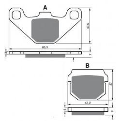 Paires de Plaquettes de frein Avant Pour Adly Silver Fox 100  de 2001 à 2005