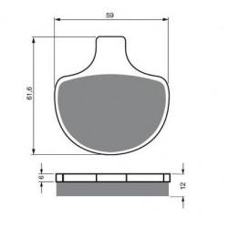 Paires de Plaquettes de frein Avant Pour Gas-Gas Pampera 125  de 2004 à 2008