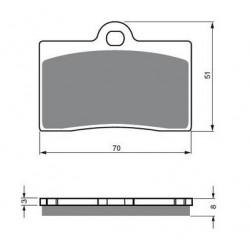 Paires de Plaquettes de frein Avant Droit Pour Piaggio-Vespa MP3 250  de 2006 à 2012