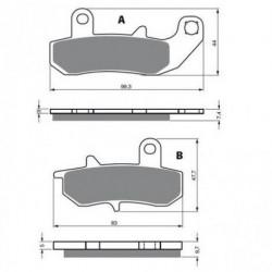 Paires de Plaquettes de frein Avant Droit Pour Piaggio-Vespa MP3 500  de 2009 à 2010