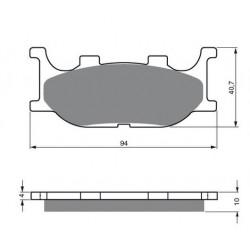 Paires de Plaquettes de frein Arrière Pour Kawasaki KXF 50  de 2007 à 2009
