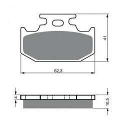 Paires de Plaquettes de frein Avant Pour Kymco Looker 125 S de 2007 à 2008