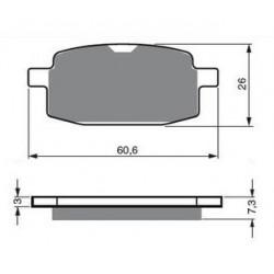Paires de Plaquettes de frein Arrière Pour Kymco Uxv 500 Side x Side de 2008 à 2010