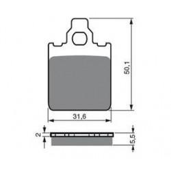 Paires de Plaquettes de frein Avant Gauche Pour Kawasaki KVF 650 Brute Force de 2005 à 2009